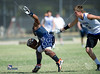 The championship bracket games on day 2 from the Texas State Private Schools Association 7-on-7 tournament, held at Ft. Worth Country Day School. Winners advance for one of two berths in the championship game, losers are out. Here Tyler's Grace Community School's Cougars play the Saints of All Saints in a 10am Saturday seminfinal, both teams having advanced past their 9am opponents.