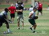 Pools 3 and 4 qualifiers from the Texas State Private Schools Association 7-on-7 tournament, held at Ft. Worth Country Day School. Winners of best 2 of 3 advance to championship round, losers to consolation round. Here, The Woodlands Christian Academy's warriors play Second Baptist's Eagles in a 12pm Friday game.