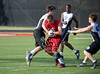 St. Thomas hosts a weekly 7-on-7 football practice at Hotze Field which includes St. John's, St. Pius, Bellaire Episcopal, and Houston Christian. Here, St. Thomas's Eagles play Episcopal's Knights.