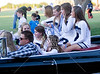 The Casady Cyclones celebrate 2011 homecoming with a parade complete with floats, beads for the onlookers, cheerleaders, and vintage cars through campus prior to the football game hosting St. John's.