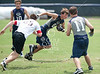 Second Baptist hosts St. Pius, St. John's, Kinkaid, Episcopal, and Northland Christian in a summer 7-on-7 football tournament. Here the JV SJS team plays Second Baptist.