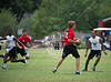 Second Baptist hosts St. Pius, St. John's, Kinkaid, Episcopal, and Northland Christian in a summer 7-on-7 football tournament.  Here the Varsity Lions of Northland Christian play the Mavericks of St. John's.
