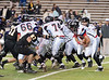 St. John's Mavericks play Kinkaid's Falcons in varsity football at Rice Stadium in the last game of the regular season that served as the SPC championship. Kinkaid won 28-7