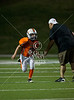 The U Miami Hurricanes youth football league play the Notre Dame Fighting Irish in the Spring Branch Memorial Sports Association's (SBMSA) Junior Varsity Tackle (10-11yo) championship game at Darrell Tully Stadium. The Irish won 39-13.