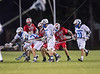 The St. John's Mavericks travel to nearby Episcopal High School to take on the Knights in an SPC counter boys' lacrosse game. St. John's lead this one throughout and wins 15-8.