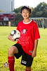 The St. John's School 2011-12 boys soccer teams pose for team portraits at Scotty Caven Field.