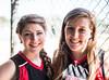 Team captains Sr. Avery Landrum (L) and Jr. Paige Killelea of the St. John's 2012 Varsity Softball Team pose for portraits.
