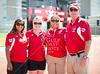 The coaching staff of the St. John's 2012 varsity softball team. From L to R: Isis Barron-Hutchinson, xxx xxx, xxx xxx, and head coach Dan Muschalik.