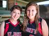 Senior captains Avery Landrum and xxx xxx of the St. John's 2012 Varsity Softball Team pose for portraits.