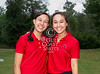 St. John's varsity girls' golf team captains pose for a team photo prior to taking the links for the 2012 SPC championship tournament at Woodforest Golf Club. Shown L to R: Samantha Heinle and Margeaux Epner. Mon., Apr. 30, 2012. Montgomery, Tex. (Kevin B Long / GulfCoastShots.com)