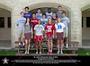 Class of 2012 St. John's Seniors who will be playing varsity athletics in college pose for a photo at year's end. Pictured L to R: Meryl Gibbs (MIT, Volleyball), Alexa Mullins (Stanford - Lacrosse), Catherine Dawson (Stanford - Field Hockey), Sarah Urdahl (Duke - Field Hockey). Second row: Nathan Whittle (Williams - Lacrosse), Zach Long (Stanford - Football), Sam Jamison (Richmond - Track), Mark Louis (Lafayette - Baseball), Christopher Gow (Amherst - Football). Top row: David Friedman (Northwestern - Tennis), Alexander Saucer (Furman - Football), Daren Napier (Columbia - Football), and Robby Smith (Trinity - Football). Wed., May 2, 2012. Houston, Tex. (Kevin B Long / Gulf Coast Shots)