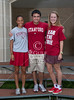 Class of 2012 St. John's Mavericks seniors who will be playing varsity athletics at Stanford pose for a photo at year's end. Pictured L to R: Alexa Mullins (Lacrosse), Zach Long (Football, and Kathleen Dawson (Field Hockey).  Wed., May 2, 2012. Houston, Tex. (Kevin B Long / Gulf Coast Shots)