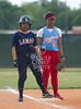 The Madison Marlins play the Lamar Redskins in Region 3, District 20, 5A softabal in Houston's Butler field. The Marlins drop a run rule game 16-0