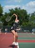 Stock photo shots of St. John's Mavericks boys and girls varsity tennis teams at Memorial Park during a match agains Episcopal.