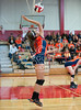 The Seven Lakes Lady Spartans play Memorial's Lady Mustangs in varsity volleyball at Memorial High School. The Mustangs in in 3 straight games.