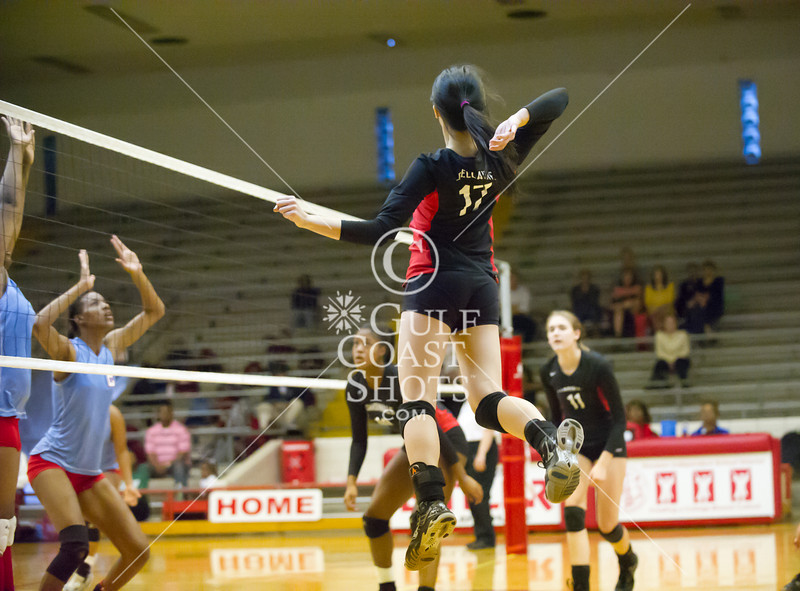 Madison's Lady Marlins play the Bellaire Cardinals a UIL Conf 5A Rgn 3 Dist 20 girls volleyball game at Butler Fieldhouse. Bellaire won 3-0.