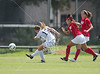 The SMU Mustangs (4-5-1, 0-1-1) and Rice Owls (5-4-2, 2-0-0) battle in women's soccer. The Owls won 3-2 to remain undefeated and tied for 1st place in C-USA. Sun., Sep. 23, 2012. Houston, Tex. (Kevin B Long / GulfCoastShots.com)