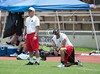 Twelve private schools across Texas compete in the annual 7-on-7 football tournament, held this year at St. John's school. Kinkaid, First Baptist, Episcopal and St. John's  won 1st through 4th, respectively. Sat., Jun 23, 2012. Houston, Tex. (Kevin B Long / GulfCoastShots.com)