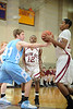 The Dutch of Tulsa's Holland Hall take the court with the Trojans of Trinity Valley School in Game 9 of the Winter 2009 SPC boys basketball championship.