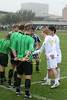 The Lions of St. Mark's School of Texas play the s Dragons in Game 1 of the Boys Division 1 Winter SPC Soccer Tournament