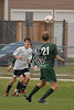 The Owls of The Oakridge School play for the championship in the 2009 WInter SPC Soccer tournament against the Hawks of Cistercian Preparatory School.