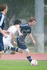 The Mavericks of St. John's School match up against the Saints of All Saints' Episcopal School in Game 2 of the Division 2 Boys Soccer Winter 2009 SPC Tournament.