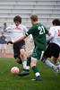 The Oakridge School's Owls challenge the Spartans of St. Stephen's Episcopal School in Boys Division 2 SPC Soccer February 13, 2009.