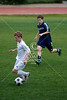 The Trojans of Trinity Valley School take the soccer field against the Saints of All Saints' Episcopal School, in Game 6 of Division 2 of the SPC Winter 2009 Tournament.