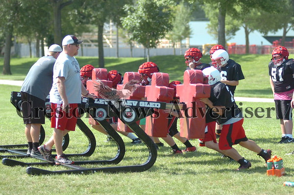 08-17 CHS FB practice & watermelon feed