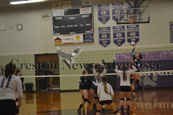 09-21 Southwest Valley vs Nodaway Valley volleyball