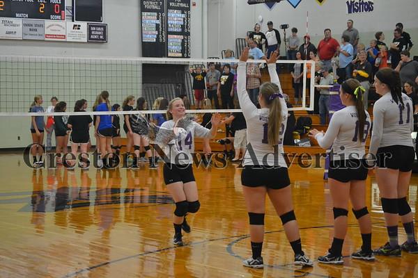 10-05 Nodaway Valley - Lenox volleyball