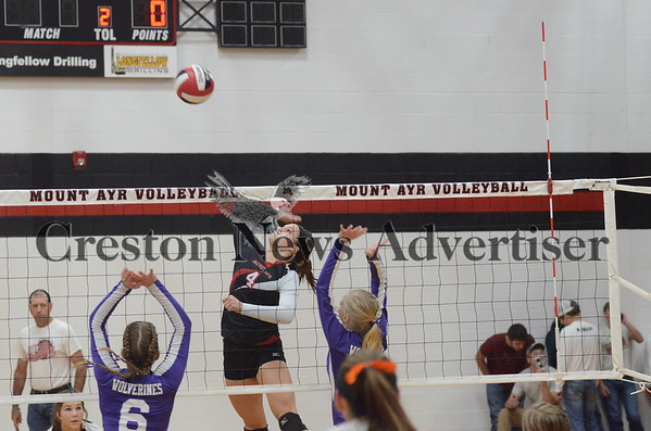 10-20 Nodaway Valley at Mount Ayr volleyball