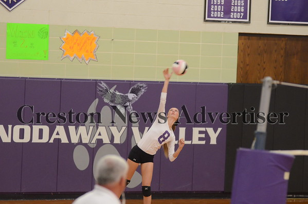 10-21 Nodaway Valley-Grand View Christian volleyball