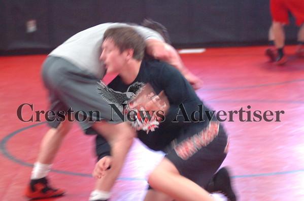 12-01 Creston wrestling practice