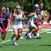 Detroit Titans Mid-Fielder Emily Boissonneault moves up field against Jacksonville