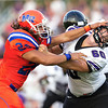Marvin Ridge Taylor Tatu makes a statement against offensive line of Ardrey Kell.