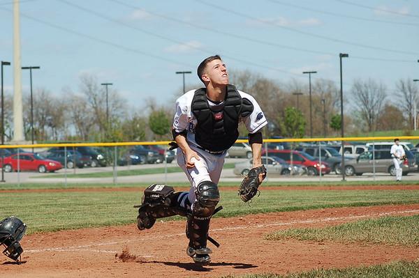 Spring Baseball 07 - ONW vs Olathe South Freshman - Jake is #30 Catcher