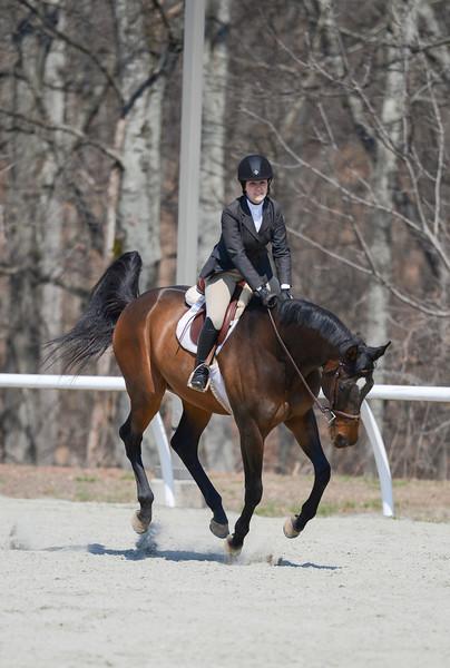 Rider: Laura Leitch<br /> Horse: Regal Lark Blues (aka Brego)<br /> School: Sweet Briar College