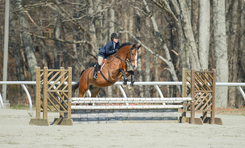 Rider: Cristina Thomas<br /> Horse: Allow Me<br /> School: Sweet Briar College