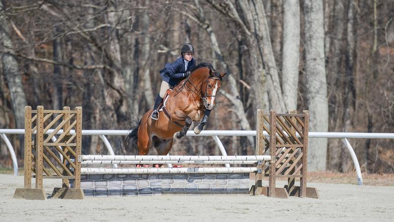 Rider: Cristina Thomas<br /> Horse: Allow Me<br /> School: Sweet Briar College