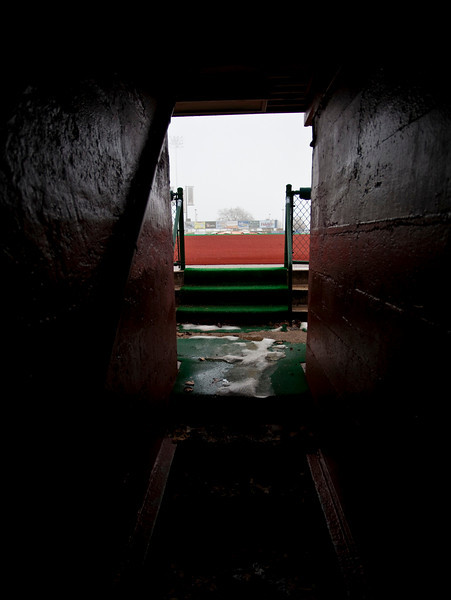 Tunnel, third base dugout