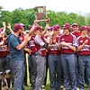 Central Noble holds up the sectional championship trophy after beating Westview in Monday's Class 2A Sectional 35 final at Westview High School in Topeka.