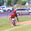 Westview's Jayce Brandenberger looks down the third base line during Saturday's Class 2A Sectional 35 semifinal game against Fairfield at Westview High School in Topeka.