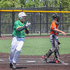 Northridge sophomore Gavin Collins, left, crosses the plate and scores Northridge's first run on a RBI triple by junior Carter Gilbert during the sectional game against Warsaw Saturday afternoon in Middlebury.