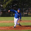 Bethany Christian senior Tony Moser (15) throws a strike toward home plate early in Wednesday's game against Argos at Bethany Christian Schools in Goshen.