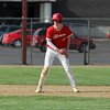Westview freshman Mason Wire gets a lead off second base in the first inning of Tuesday's NECC tournament against against Churubusco in Topeka.