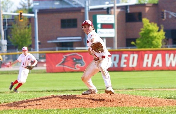 Goshen's Reece Fisher gets ready to deliver a pitch during Friday's game against Concord at Goshen High School.