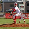 Goshen sophomore Mitch Daniels fires a pitch in the second inning of Thursday's game against Northridge in Goshen.
