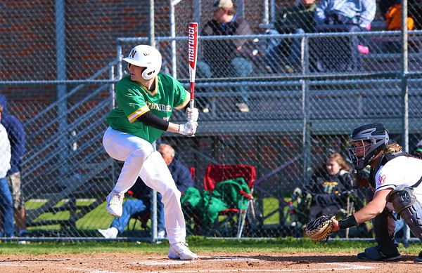 Northridge's Trevor Brown gets ready to swing from the plate during Friday's game against NorthWood in Nappanee.