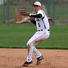 STEPHEN BROOKS   THE GOSHEN NEWS<br /> Concord junior shortstop Quinn Miller winds up to throw to first base during Monday's home game against Northridge. Northridge won 8-6.